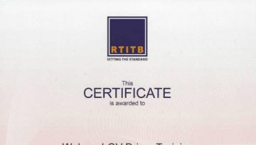 We are now an RTITB Accredited Centre!